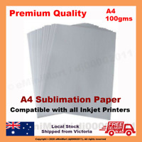 100 Sheets A4 Dye Sublimation Transfer Paper for Heat Press Printing