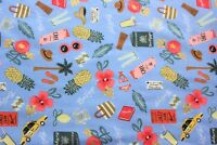 BRAND NEW QUILTING FABRIC Cotton and Steel Les Fleurs Bon Voyage 100% Cotton