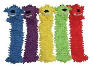 """Floppy Loofa Dog Toy -Choose from 3 colors 13"""" long  No stuffing Loofah Multipet"""