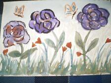 "Original Watercolour Painting - "" Garden ""- signed"