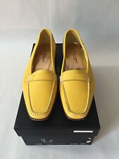Dolce & Gabbana Yellow Leather Loafers Size 38.5