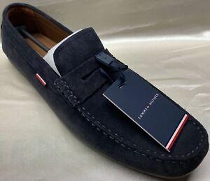 Tommy Hilfiger Classic Suede Penny Loafer Mokassin Sneaker Echt Leder blau Gr 45