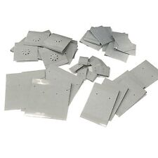 Earring Pin Display Cards Gray Flocked Pack of 40 Assorted Sizes Made in Usa