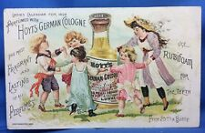 1892 HOYT's GERMAN Cologne PERFUME Victorian Advertising TRADE CARD Antique