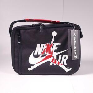 Nike Air Jordan Jumpman Fuel Pack Lunch Bag Insulated Black/Gym Red 9A0258-KR5