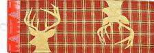"Long Tapestry Table Runner, 13""x72"", WINTER, CHRISTMAS, 2 REENDEERS, HC"