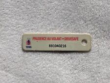 1996 CANADA Vintage Plastic Mini License Plate WAR AMPS KEY TAG # 691040216