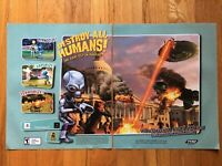Destroy All Humans! Playstation 2 PS2 Video Game Poster Ad Art Print