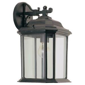 Sea Gull Lighting Kent 15-in H Black Medium Base Outdoor Wall Light