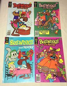 BULLWINKLE and ROCKY  Comic Books  lot 4  bronze age Gold Key 9.6 # 4 21 22 25