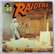 1981 Vintage INDIANA JONES RAIDERS OF THE LOST ARK Story Book & Record  LP
