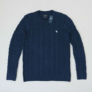 Abercrombie & Fitch Men Cable-knit Pullover Sweater size M, L ,XXL new with tags