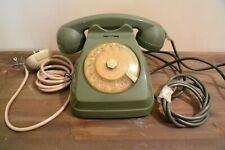 telefono a disco compositore in bachelite verde