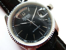 Bulova Super Seville Day Date Black 70er