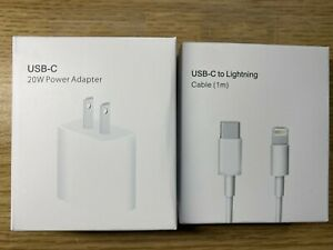 20W Charger USB C Power Adapter Cable iPhone 11 & 12 & iPad Original Genuine Oem