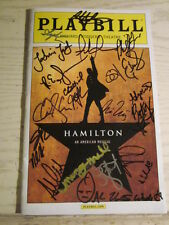 Hamilton signed Playbill 22 Signatures of Original Cast Members