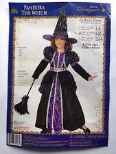 Halloween Pandora The Witch Black Purple Costume Medium 8-10