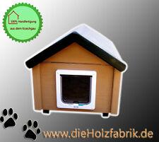 Outdoor Katzenhaus wetterfest mit Katzenklappe - BS2-J