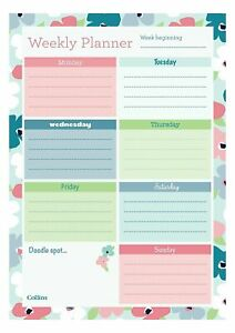 Planner Pad Daily And Weekly Desk Pad Collins Blossom Planner Contains 60 Sheets
