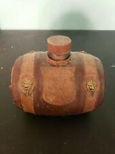 Vintage Glass with leather Whiskey Barrel Rare