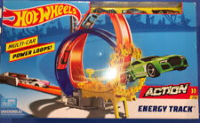 Hot Wheels Action Energy Track Multi Car Power Loops Track Set w 3 Cars ~ NEW