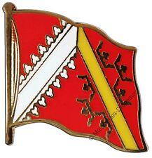 PIN's drapeau FRANCE ALSACE alsacien badge 2x2cm doré
