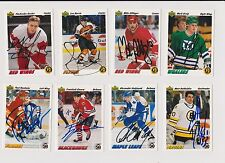 91/92 Upper Deck Mike Greig Hartford Whalers Autographed Hockey Card