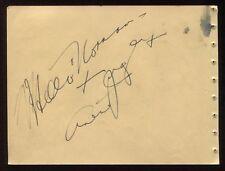 Arline Judge and Judy Canova Signed Album Page Autographed Vintage