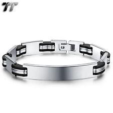 TT Stainless Steel ID Plate Bracelet (BBR220) NEW