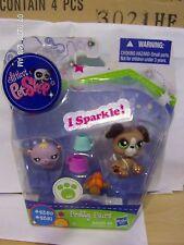 Littlest Pet Shop Pretty Pairs Sparkle Boxer & Hamster 2350 2351 NIB Rare