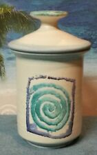 Handmade Signed Ceramic Tea Cup with Lid