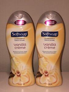 2 Softsoap Vanilla Creme Moisturizing Body Wash Limited Edition 18 Fl Oz New