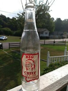 Vintage Big Chief Be On   state ACL Label Soda Columbia Mississippi Bottle!
