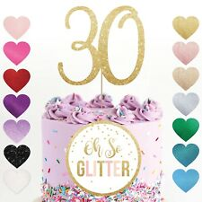 number cake topper any age birthday glitter gold 16 18 21 30 40 50 60 70 80 rose