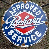 VINTAGE PACKARD DEALERSHIP PORCELAIN METAL SIGN OIL GAS CAR AUTO SERVICE STATION
