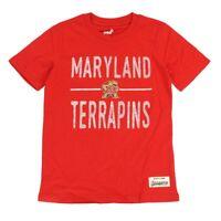 "Maryland Terrapins NCAA Youth Red ""Descendant"" Slub Distressed T-Shirt"