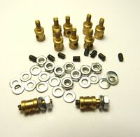 1.3mm Servo Pushrod Linkage Stopper Clevis Connector Pack of 10 RC Plane Brass