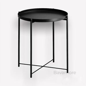 """IKEA GLADOM with removable Top Tray table Steel Black, 17 1/2x20 5/8 """" BRAND NEW"""