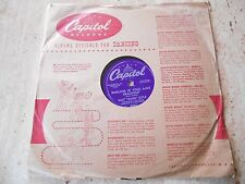 """78 RPM """"DARLING JE VOUS AIME BEAUCOUP/SAND & THE SEA"""" NAT """"KING"""" COLE 1954"""