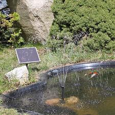 Solar Pumpe Solarpumpe für Gartenteich Teich Teichpumpe Wasserspiel Garten