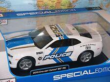 1/18 2010 CHEVROLET CAMARO SS POLICE MAISTO SPECIAL EDITION DIECAST *BRAND NEW*