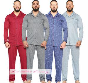 MENS NEW TRADITIONAL PYJAMAS SET NIGHTWEAR PJ LOUNGE WEAR TOP & PANTS SET M-2XL