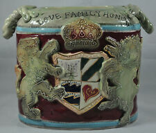 HEATHER GOLDMINE Blue Sky CLAYWORKS Lion Canister Coat Arms