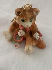 To My Cat 1995 Priscilla Hillman Cat Ornament Enesco Calico Kittens