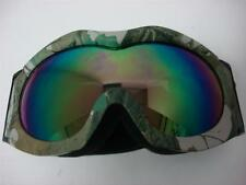 Youth Motocross ATV UTV Dirt Bike Off-road Ski Goggles Green Camo tinted lens