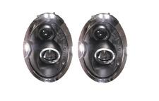 Para adaptarse a Bmw Mini 01 - 06 Negro Estilo Ojo Angel & DRL Proyector Faros de Halo