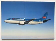 British Midland Boeing 737-300 postcard