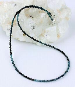 Turmalin Kette Edelsteinkette Farbeverlauf blauer Turmalin Indigolith Collier