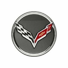 "Cross Flagged Wheel Center Cap ""1 Cap"" for  2014-2019 Chevrolet Corvette C7"