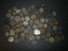 Medieval Silver Billon 74 Coins Lot 1100-1500's Crusader Templar Cross Ancient